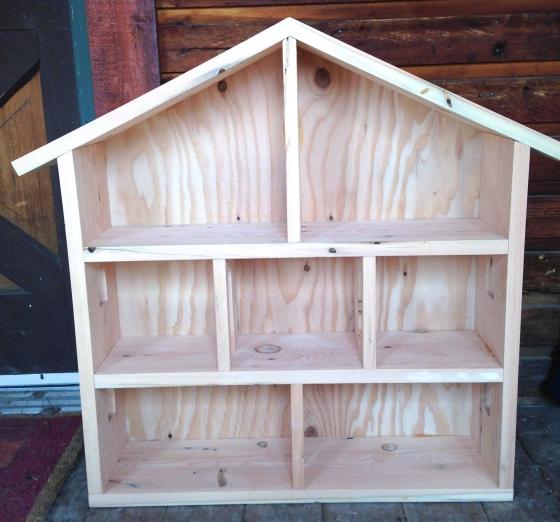 Wood dollhouse