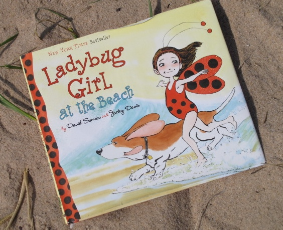 Ladybug Girl at the Beach, by David Soman