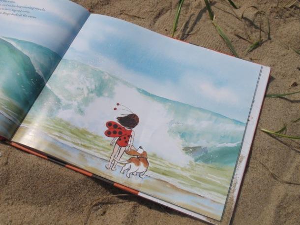 Ladybug Girl at the Beach, by David Soman, from www.ameliesbookshelf.com