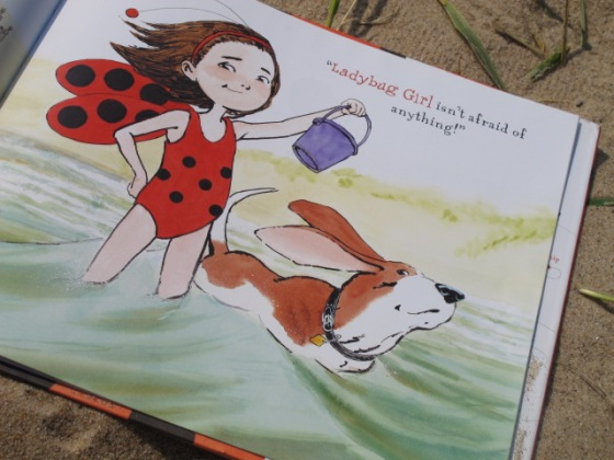Ladybug Girl at the Beach, by David Soman