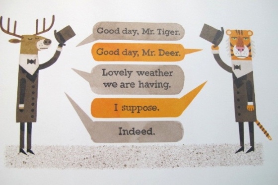 Mr. Tiger Goes Wild, by Peter Brown, from www.ameliesbookshelf.com