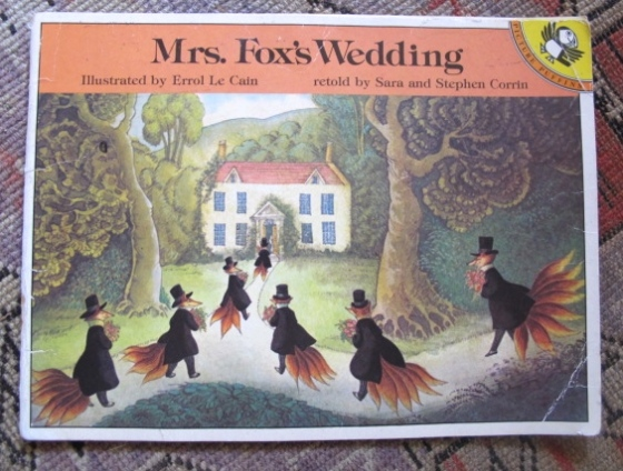 Mrs. Fox's Wedding, on www.ameliesbookshelf.com