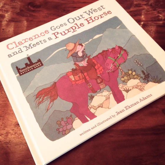 Clarence Goes Out West and Meets a Purple Horse- from www.ameliesbookshelf.com