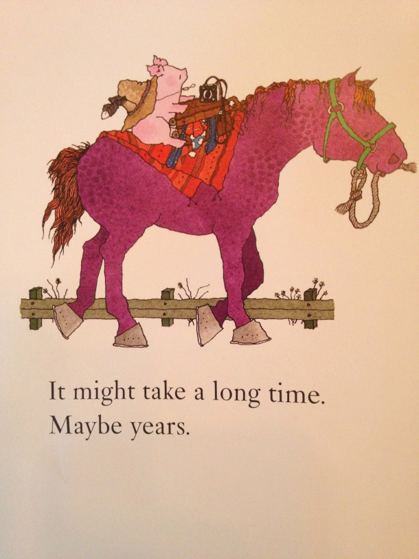 Clarence Goes Out West and Meets a Purple Horse, from www.ameliesbookshelf.com