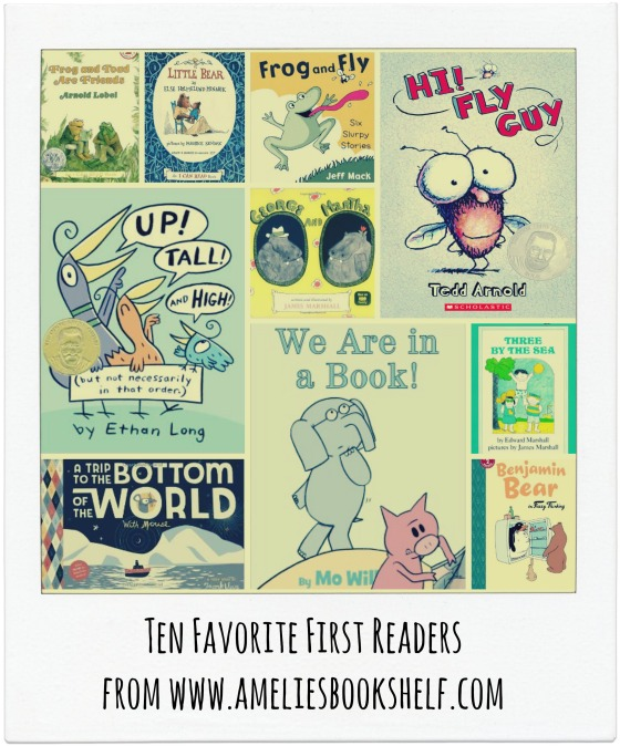 Ten favorite first readers, from www.ameliesbookshelf.com