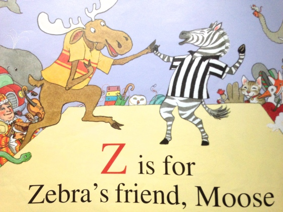 Z is for Moose, from www.ameliesbookshelf.com