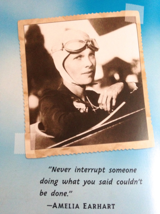 """Never interrupt someone doing what you said couldn't be done."" -Amelia Earhart"