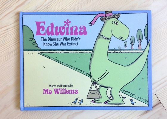 Edwina, the dinosaur who didn't know she was extinct, by Mo Willems | www.ameliesbookshelf.com