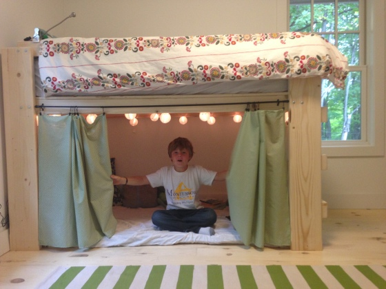 After- Toby's room (bunk bed with a reading nook/quiet fort beneath)